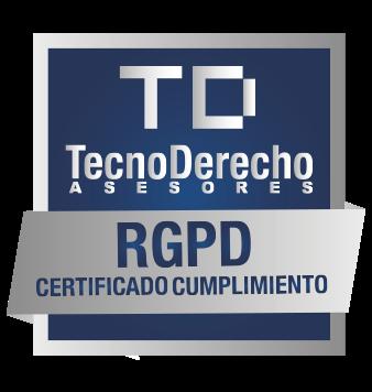 Certificado de cumplimiento RGPD